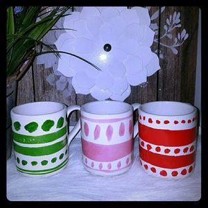 Kate spade set of 3 stacking mugs